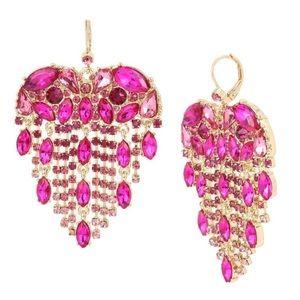 NWT Breaking Hearts Fringe Earrings